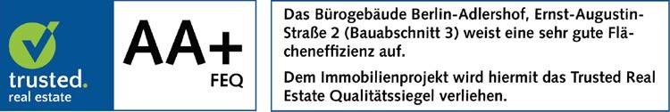 Flächeneffizienz-Urkunde NUBIS Bauabschnitt 3